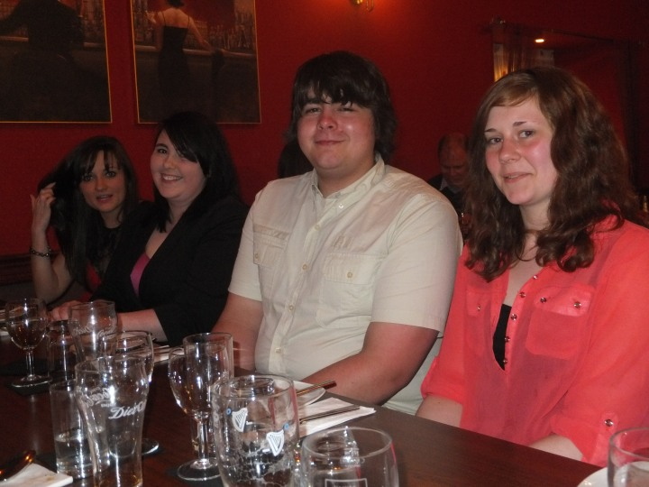 Me and my cousins out for Dad & Granny's birthdays :)