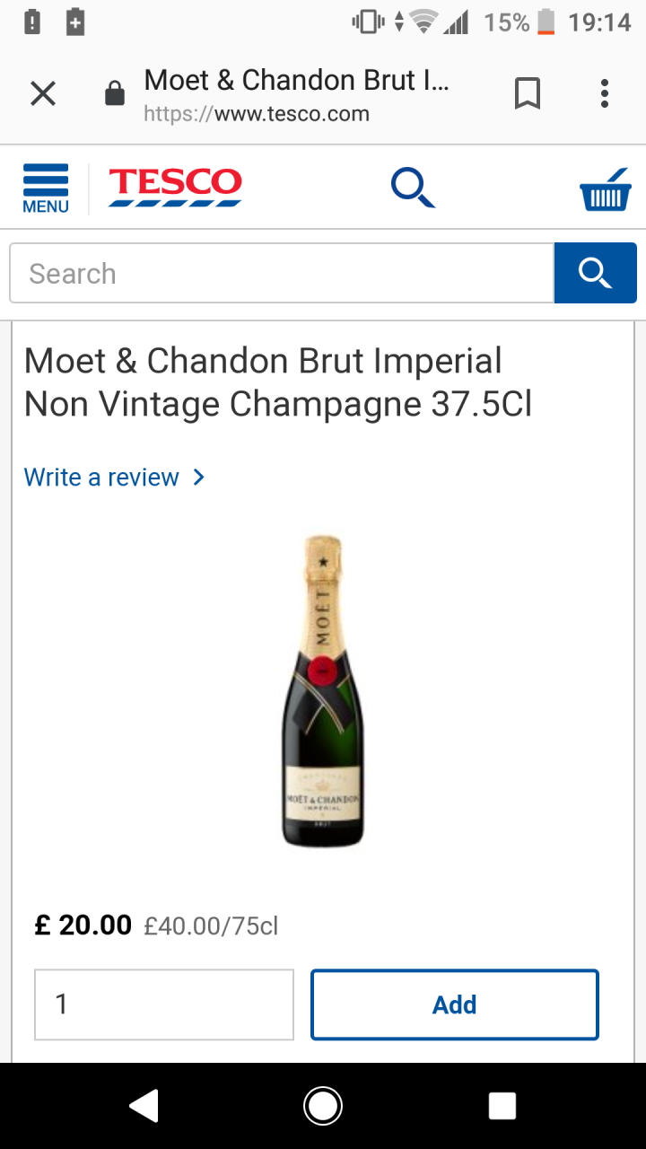 Screenshot of champagne bottle.